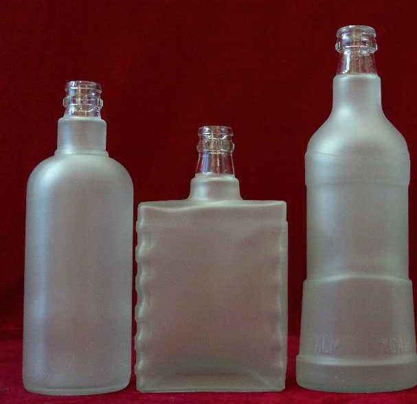 酒瓶-蒙砂酒瓶-玻璃酒瓶